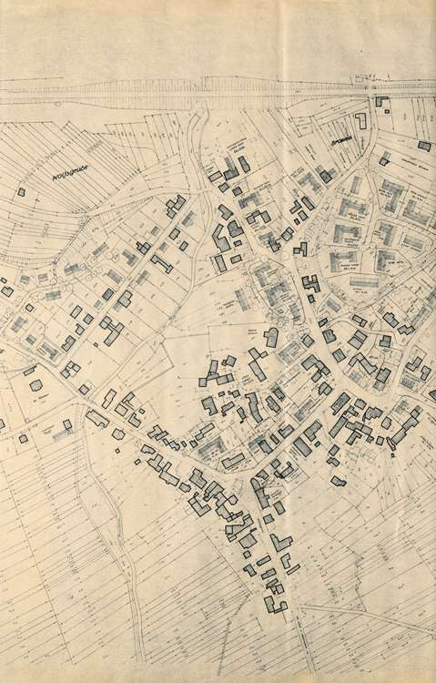 Wiederaufbau Efringen-Kirchen; Lageplan 1:1000, 3.vl
