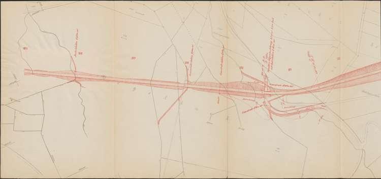 Bau der Bahnlinie Kappel - Bonndorf; Güterplan der Gemarkung Gündelwangen II, l