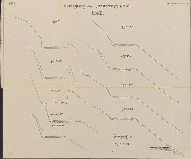 Schluchseewerk Oberstufe; Verlegung der Landstraße 50/197 Aha - Schluchsee; Los II, Bild 1