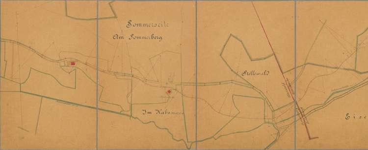 Situationsplan II zum Wegprojekt Muchenland-Eisenbreche, 1:1500, l