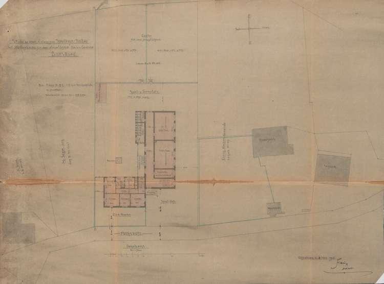 Schulhausneubau Diersburg; Lageplan des Baugeländes, Bild 1
