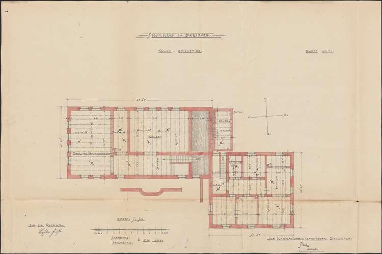Schulhausneubau Diersburg; Grundriss Keller, Bild 2
