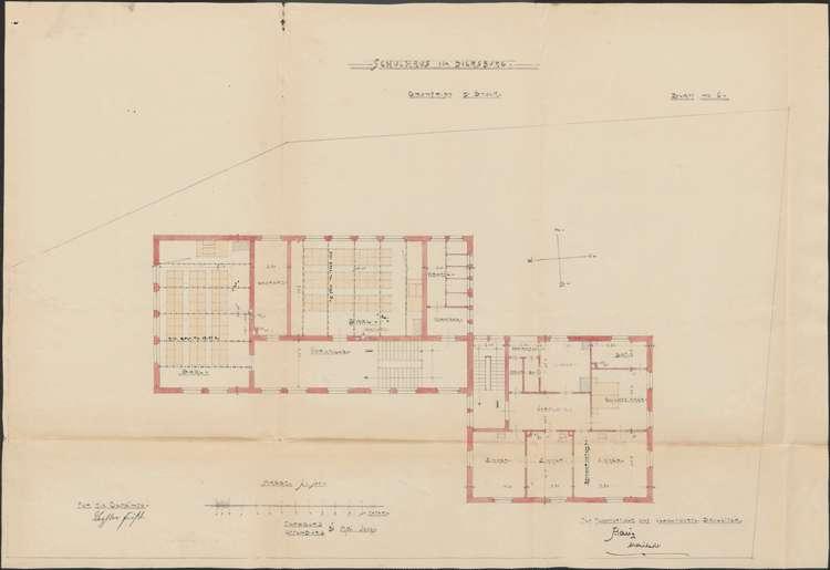 Schulhausneubau Diersburg; Grundriss 2. Stock, Bild 1