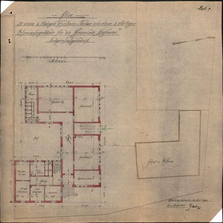 Schulhausneubau Hofweier; Grundriss Erdgeschoss, Bild 2
