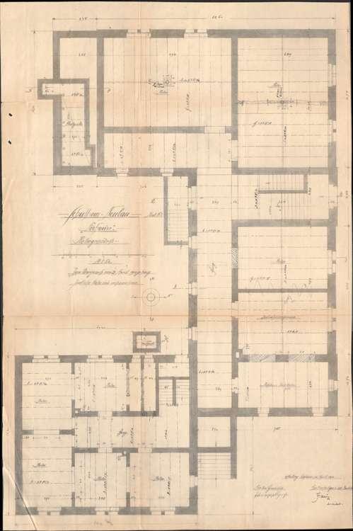 Schulhausneubau Hofweier; Grundriss Keller, Bild 1