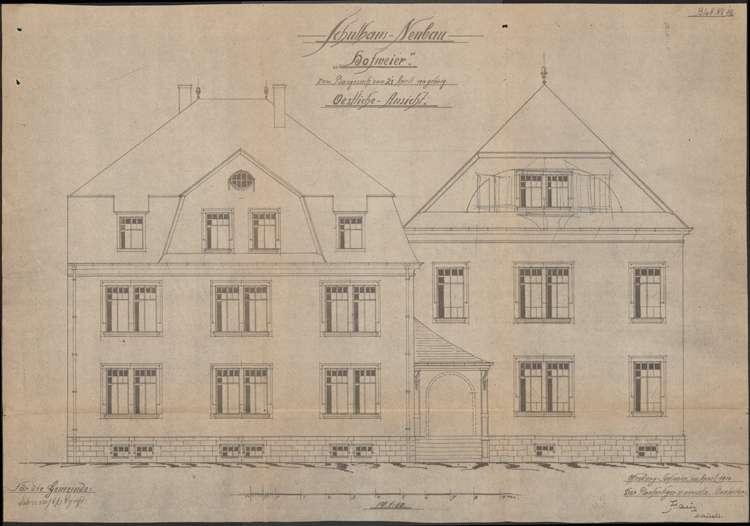 Schulhausneubau Hofweier; Ostansicht, Bild 2
