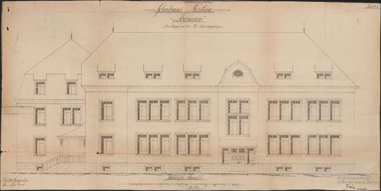 Schulhausneubau Hofweier; Nordansicht, Bild 2