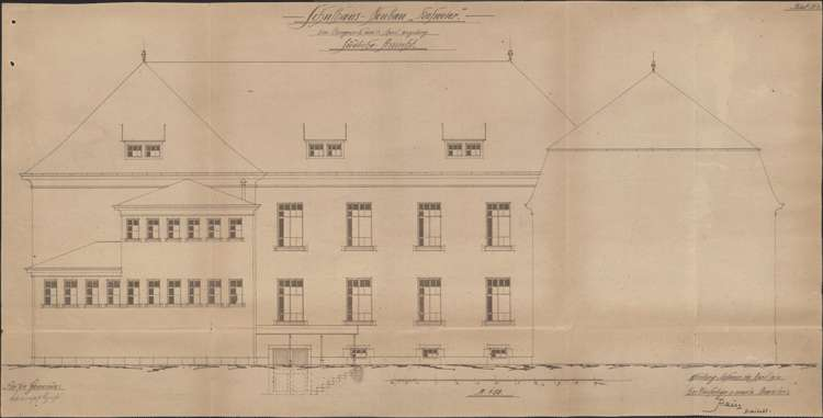 Schulhausneubau Hofweier; Südansicht, Bild 1