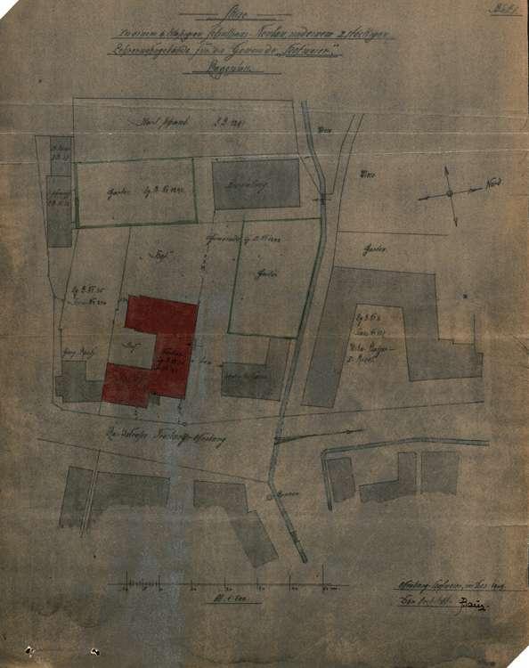 Schulhausneubau Hofweier; Lageplan des Baugeländes, Bild 1