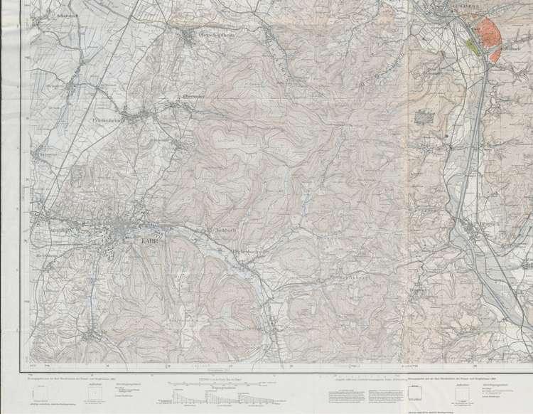 Sportflugplatz Gengenbach; Umgebungskarte mit Einflugschneisen (1:25000), lu
