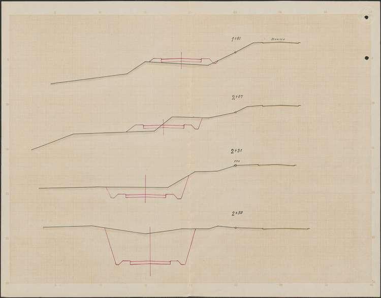Verbessserung des Kreisweges Villingen-Kappel; Querschnitte, 02