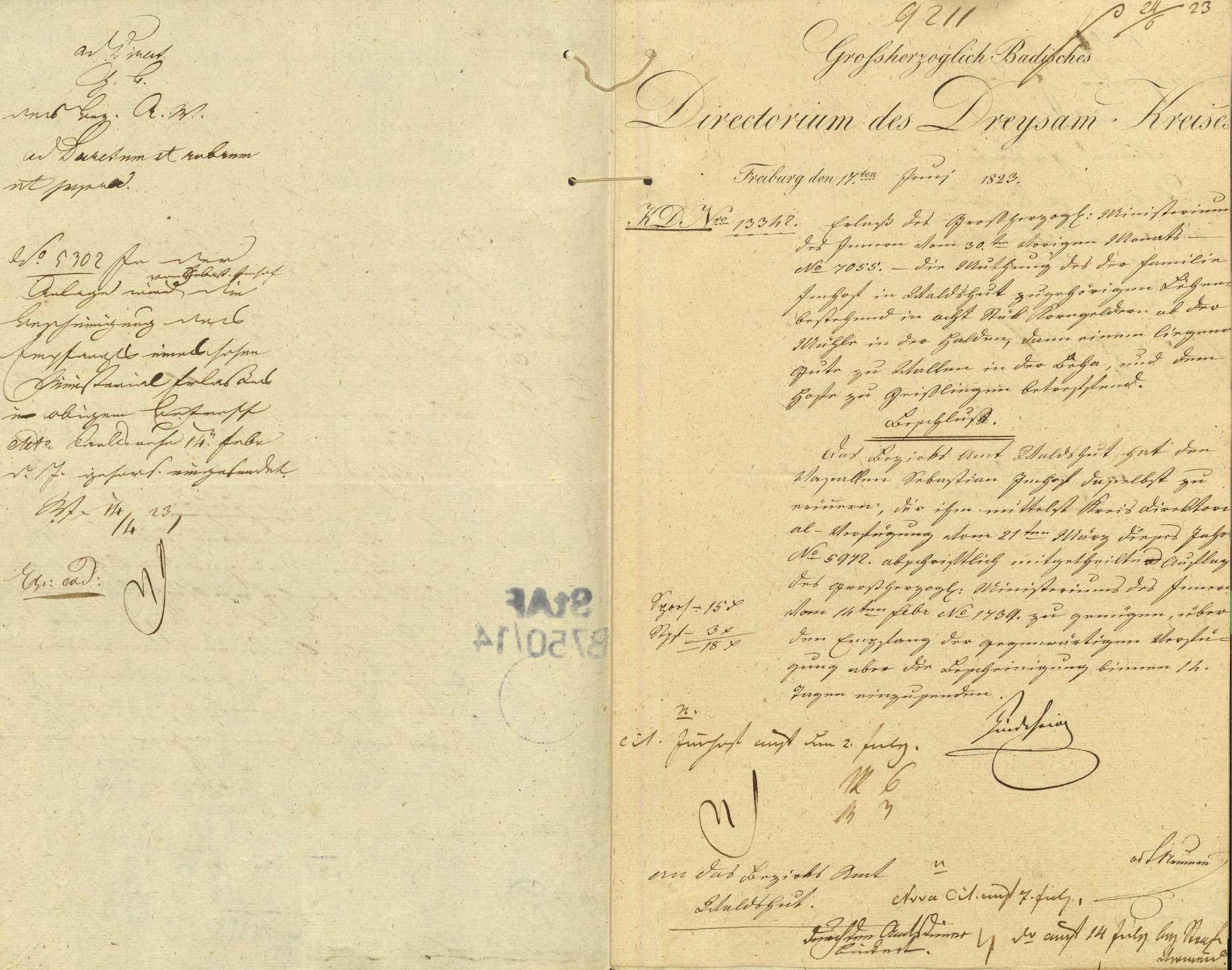 Mutung des der Familie Imhof in Waldshut zugehörigen Lehens, bestehend in 8 Stück Korngelder von der Mühle in der Halden, einem liegenden Gut zu Wallen in der Baar und dem Hof zu Geislingen, Bild 2