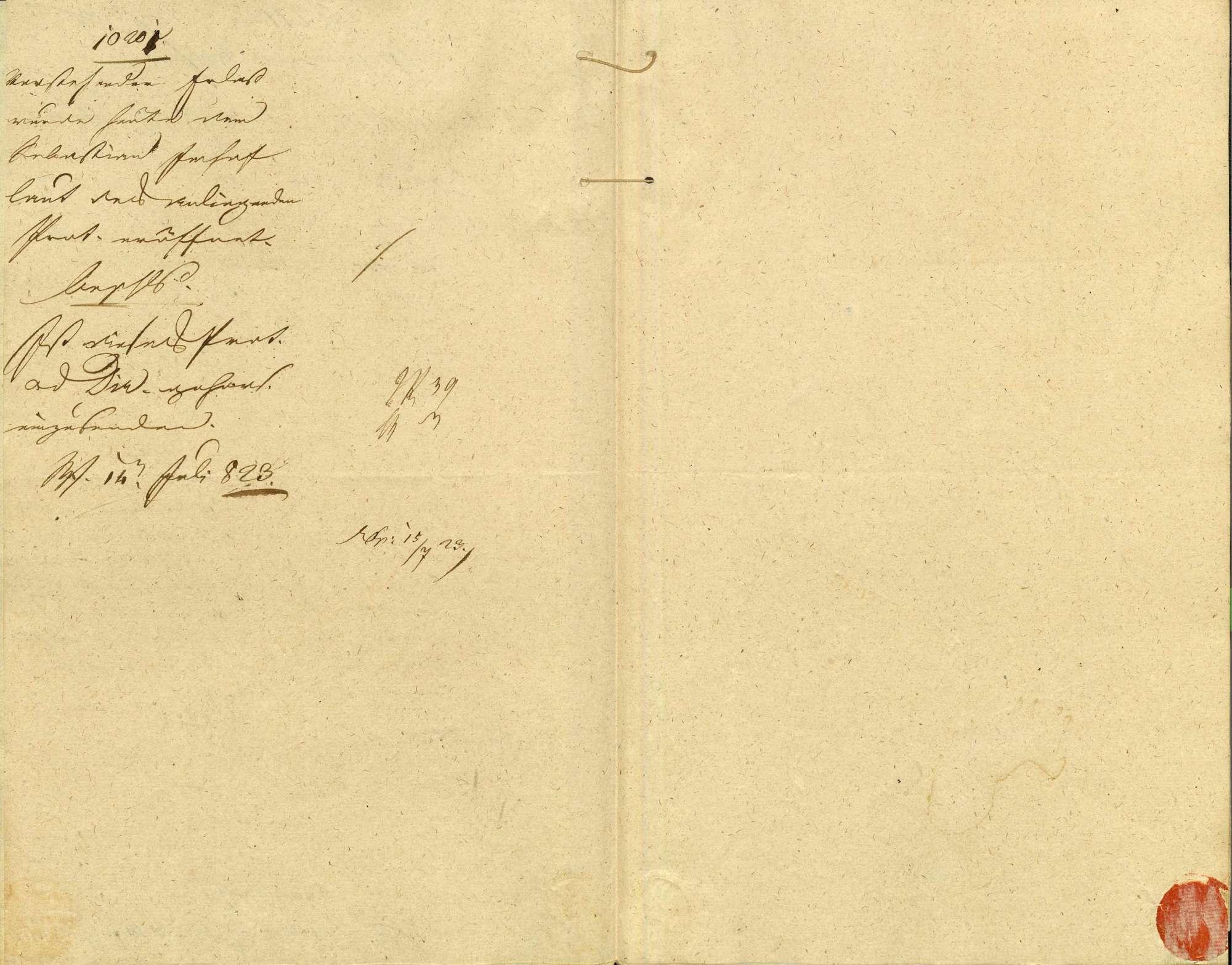 Mutung des der Familie Imhof in Waldshut zugehörigen Lehens, bestehend in 8 Stück Korngelder von der Mühle in der Halden, einem liegenden Gut zu Wallen in der Baar und dem Hof zu Geislingen, Bild 3