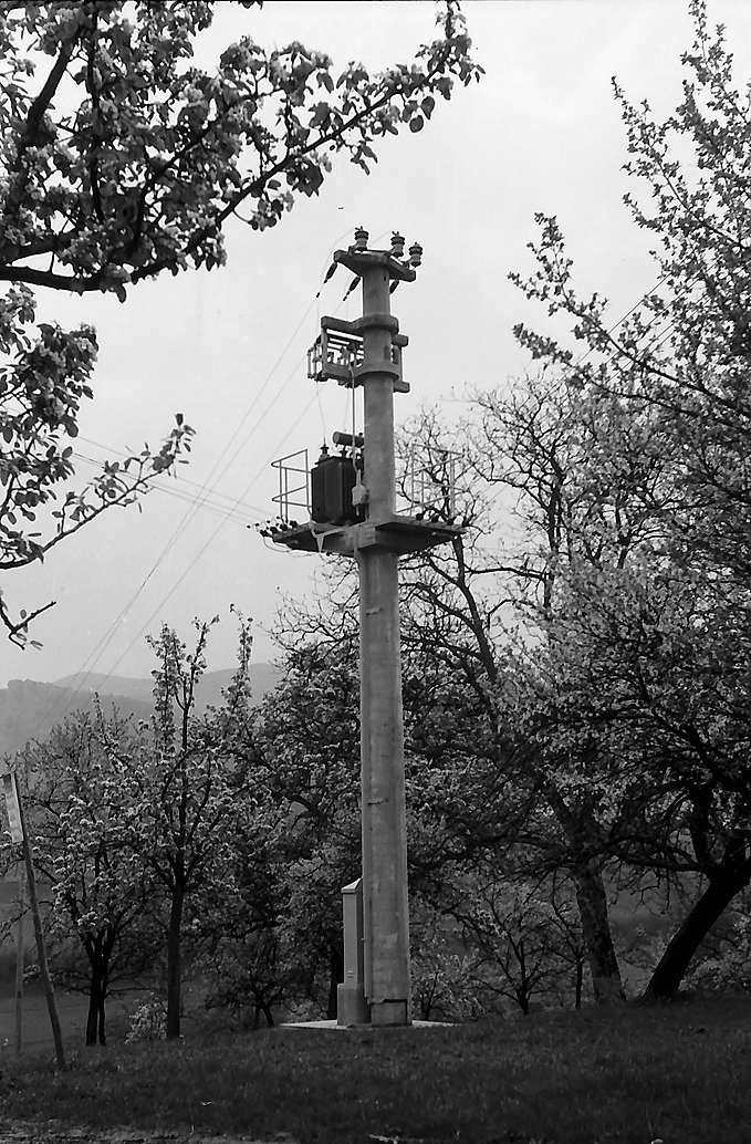 Transformatorenmast in Au, Bild 1