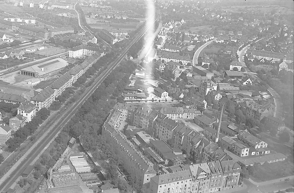 Luftaufnahmen von Freiburg i. Br., Bahnhof Herdern, Bild 1