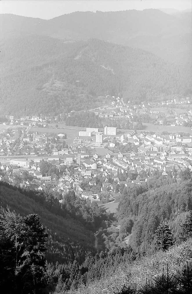 Freiburg i. Br.: Blick vom Weg zum Kybfelsen auf Littenweiler, Bild 1