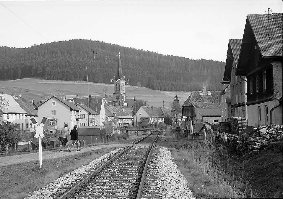 Blick auf den Ort Vöhrenbach, Bild 1