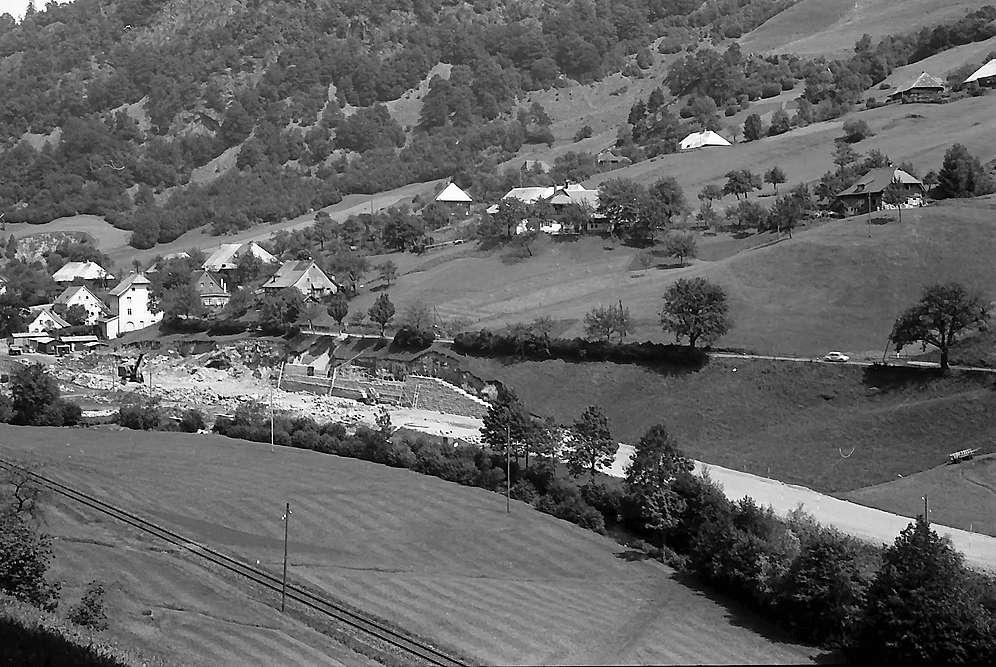 Bau der neuen Wiesentalstaße bei Schlechtnau, Bild 1