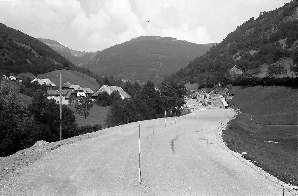 Trasse der neuen Wiesentalstraße bei Schlechtnau, Bild 1