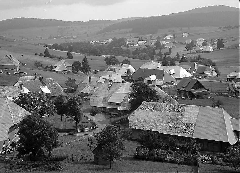 Blick vom Scheibenberg auf die Häuser von Bernau-Dorf, Bild 1
