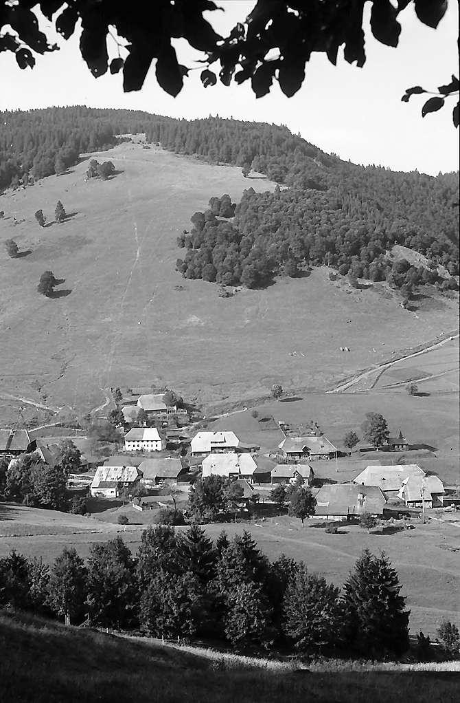 Blick vom Scheibenberg auf den Ortsteil Bernau-Hof, Bild 1