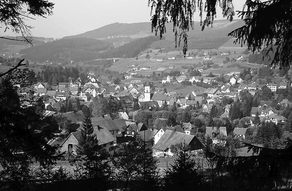 Gesamtansicht des Ortes Lenzkirch mit Blick auf den Hochfirst, Bild 1