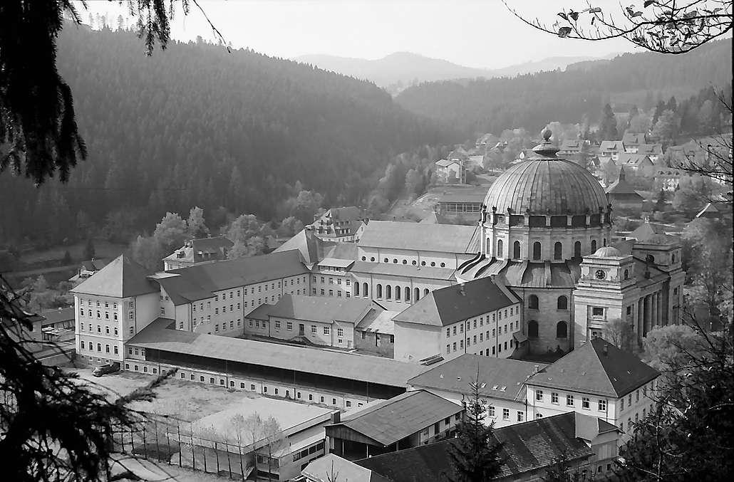 Klosterkirche in St. Blasien vom Philosophenweg, Bild 1