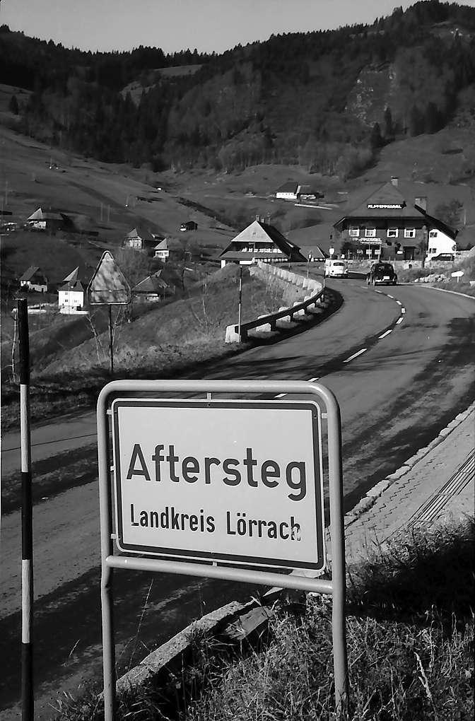 """Ortschild """"Aftersteg"""", Bild 1"""