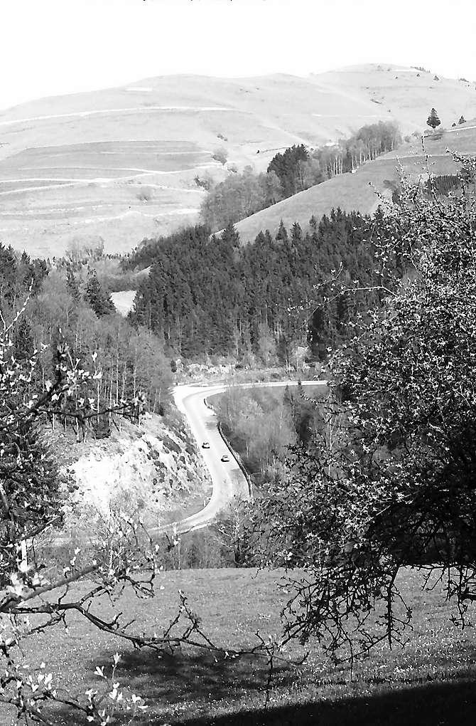 Wiesentalstraße bei Fröhnd von oben, Bild 1
