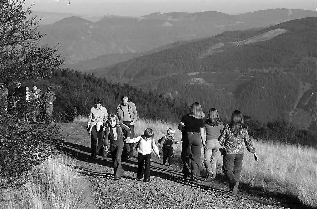 Wandergruppen am Schauinsland, Bild 1