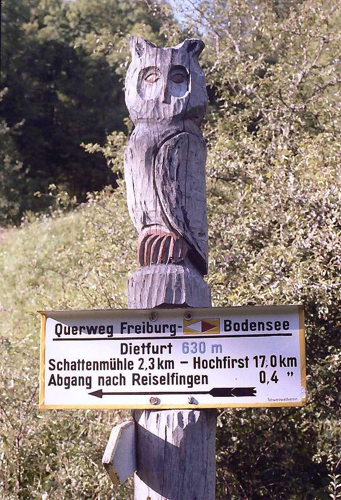 Wegweiser in der Wutachschlucht bei Dietfurt, Bild 1