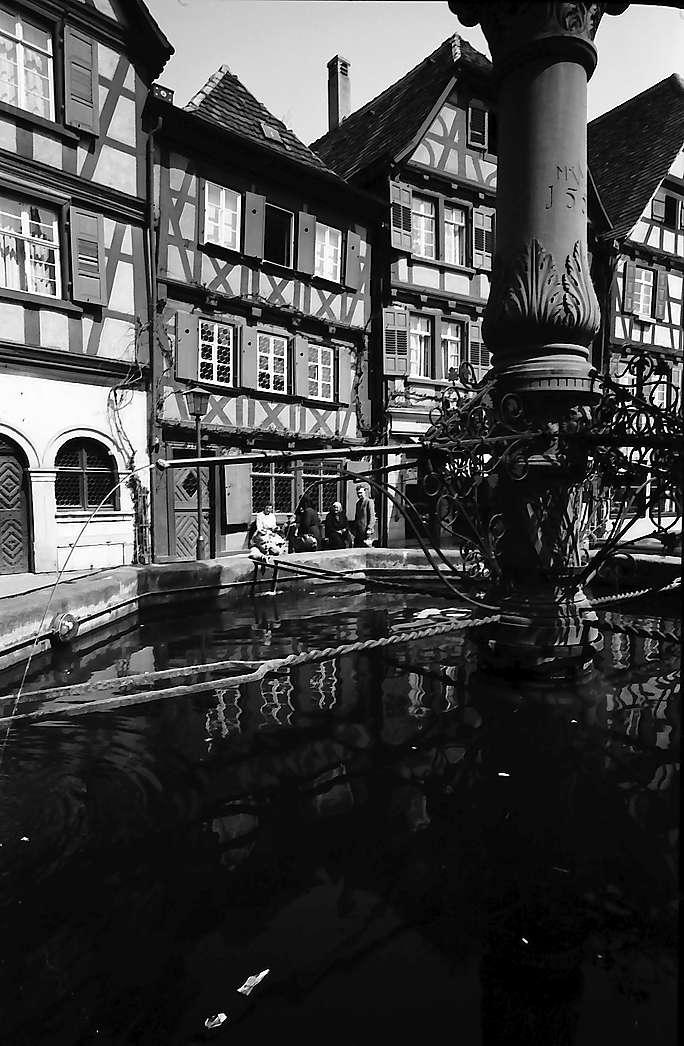 Bretten: Brunnen und Fachwerkhäuser, Bild 1
