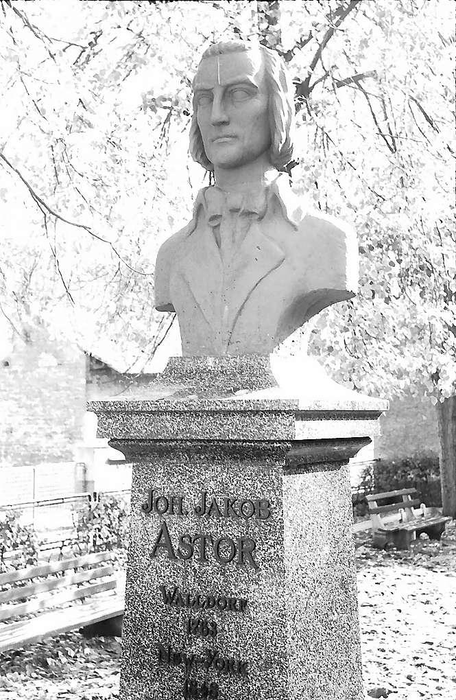 Walldorf: Denkmal für Johann Jakob Astor, Bild 1