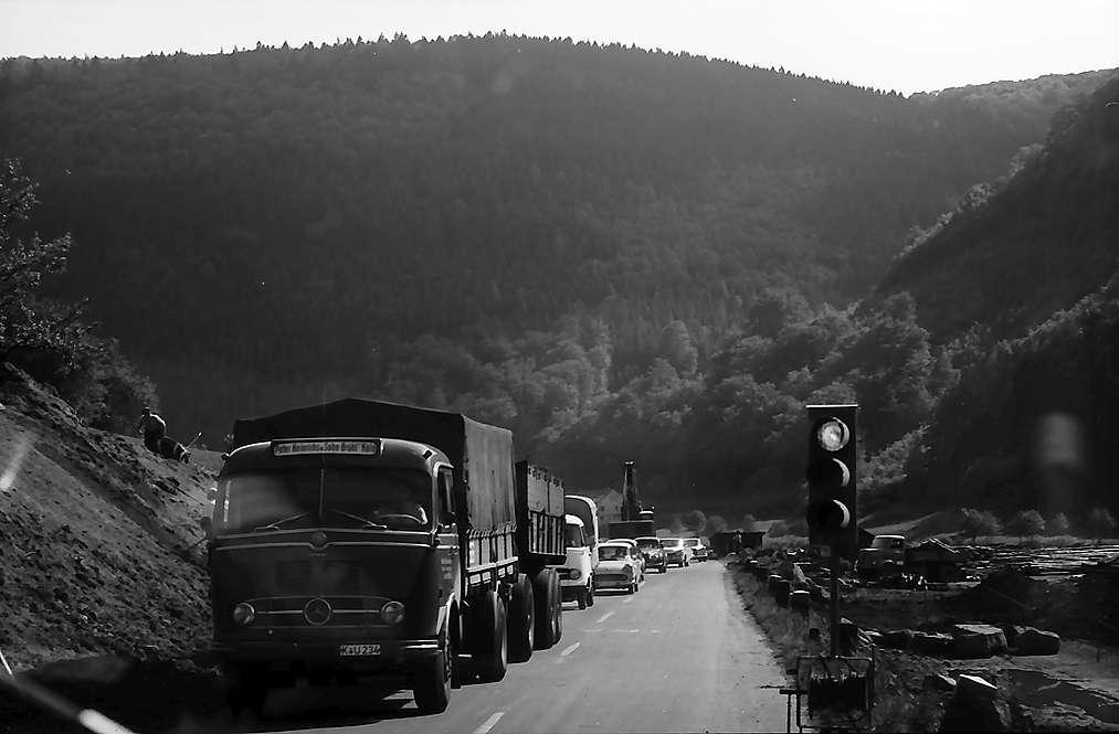 Eberbach: Straßenbaustelle, Bild 1