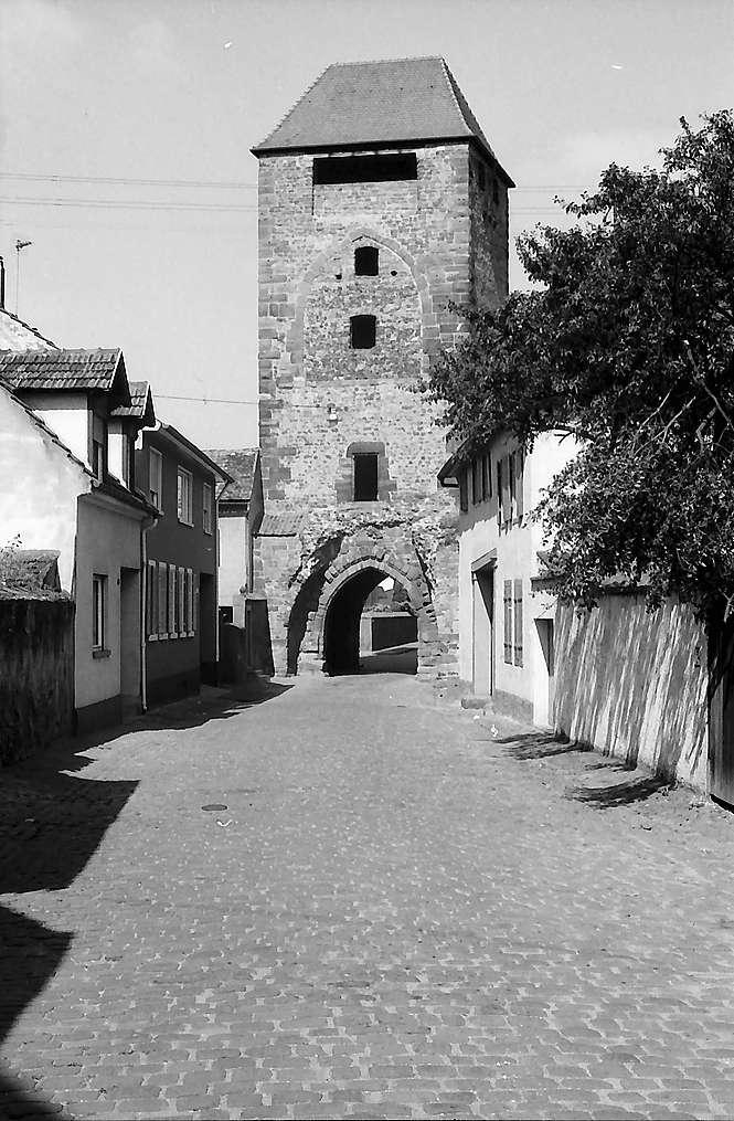 Ladenburg: Martinstor mit Straße, Bild 1