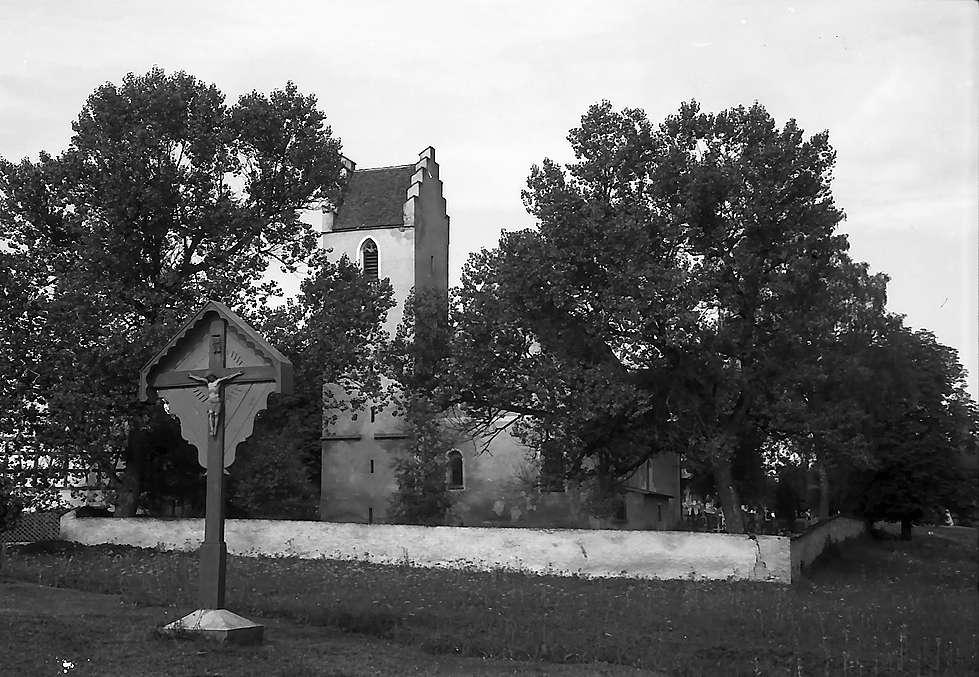 Wehingen: Kirche und Marterl, Bild 1