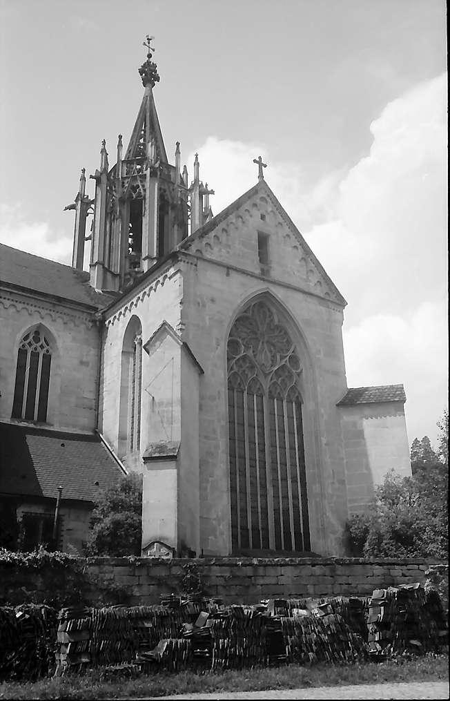 Tübingen-Bebenhausen: Ostseite der Kirche, Bild 1