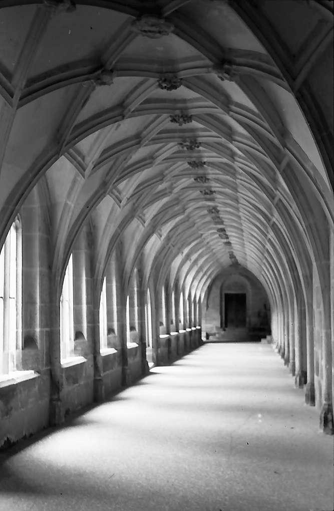 Tübingen-Bebenhausen: Blick in das Innere des Kreuzganges der Kirche, Bild 1