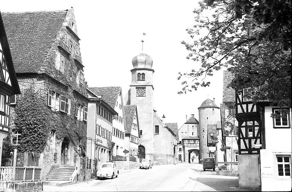 Langenburg: Innenstadt mit Stadtkirche, Bild 1