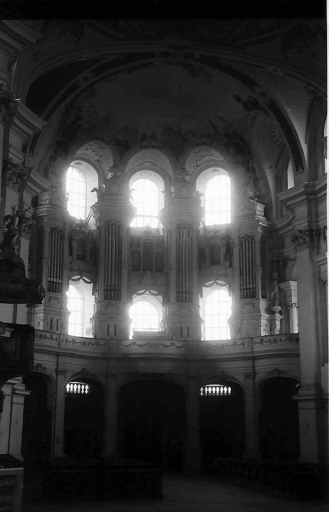 Neresheim: Orgelwand der Abteikirche, Bild 1