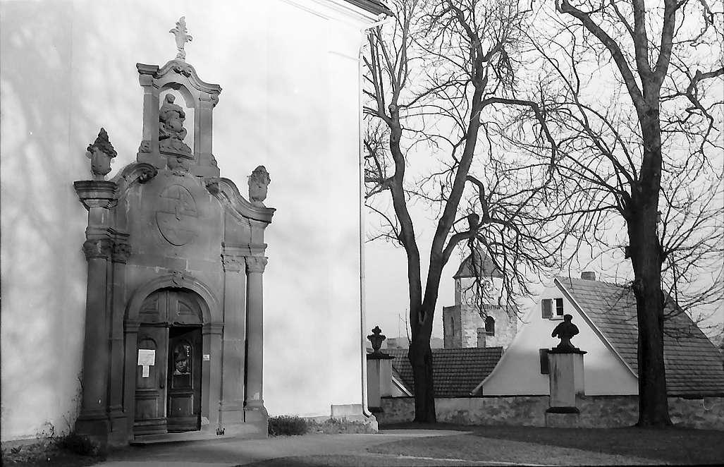 Haigerloch: Portal der barocken St. Anna-Wallfahrtskirche, Bild 1