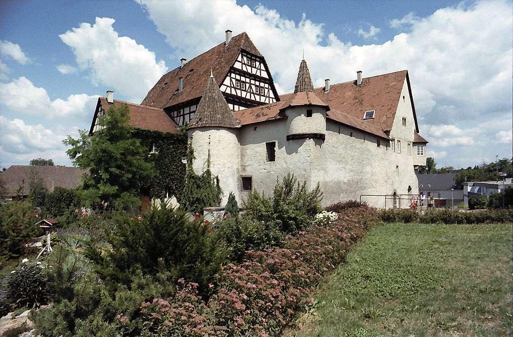 Freiberg-Beihingen: Gesamtansicht des alten Schlosses, Bild 1