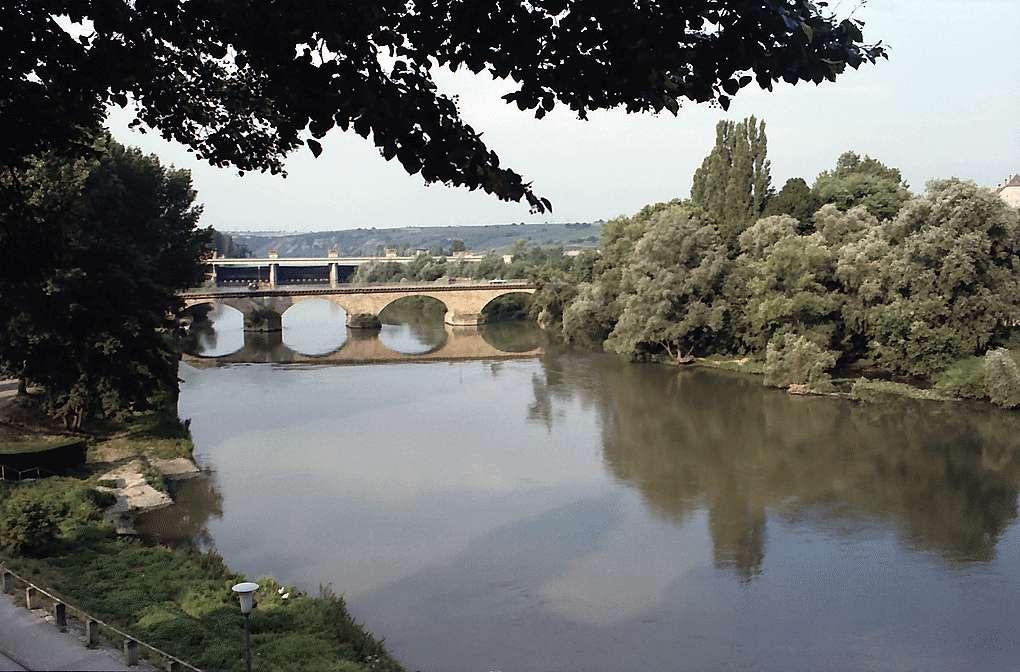 Lauffen: Alte Neckarbrücke und Wehr, Bild 1