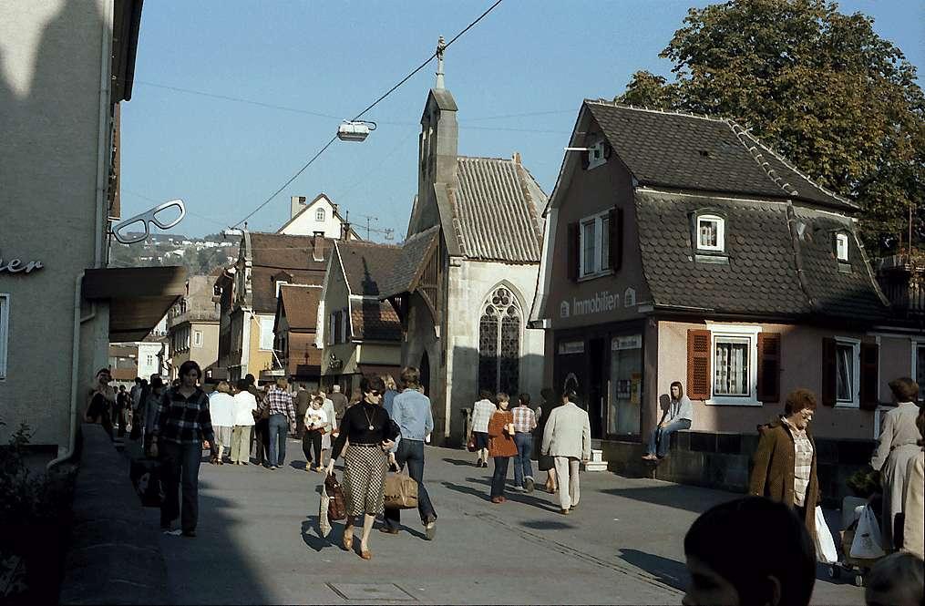 Esslingen: Fußgängerzone mit Kapelle, Bild 1