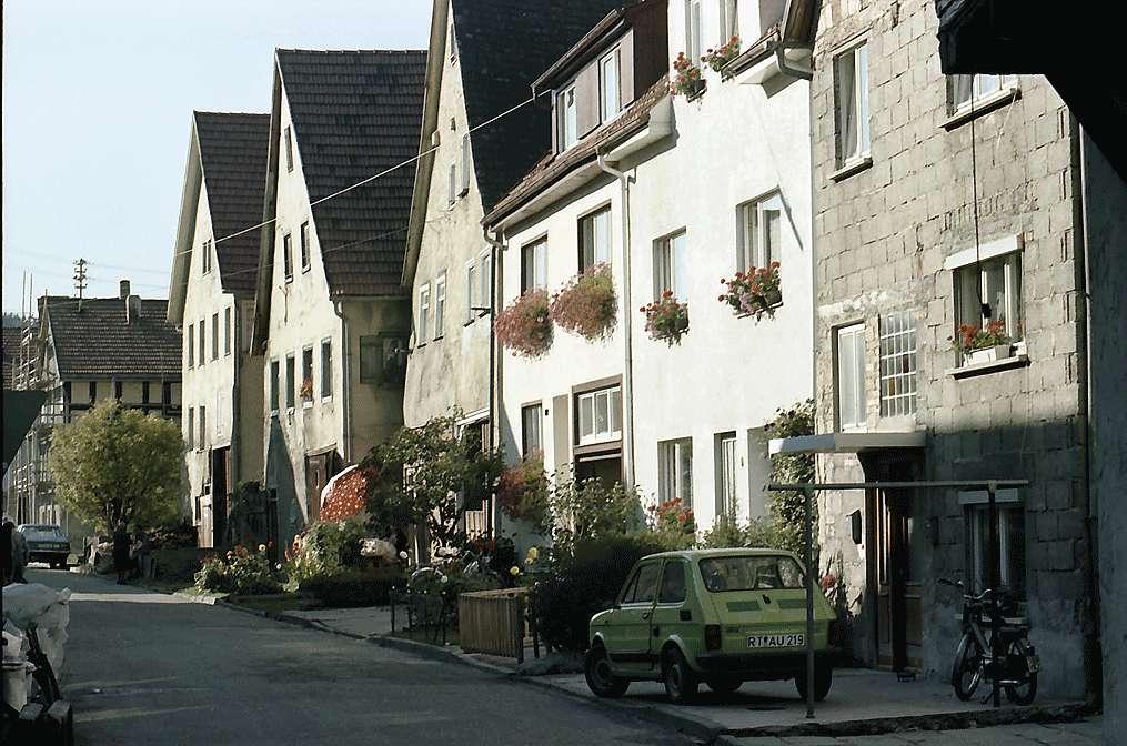 Trochtelfingen: Straße mit Giebelhäusern, Bild 1
