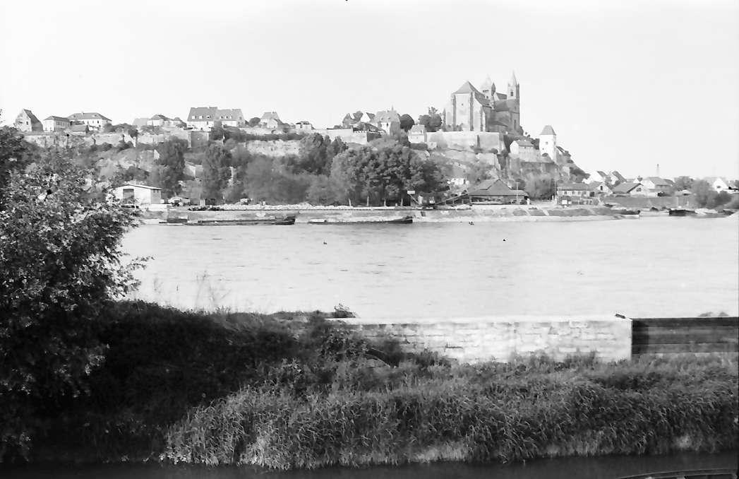 Neuf-Brisach: Breisach vom elsässischen Ufer, Bild 1