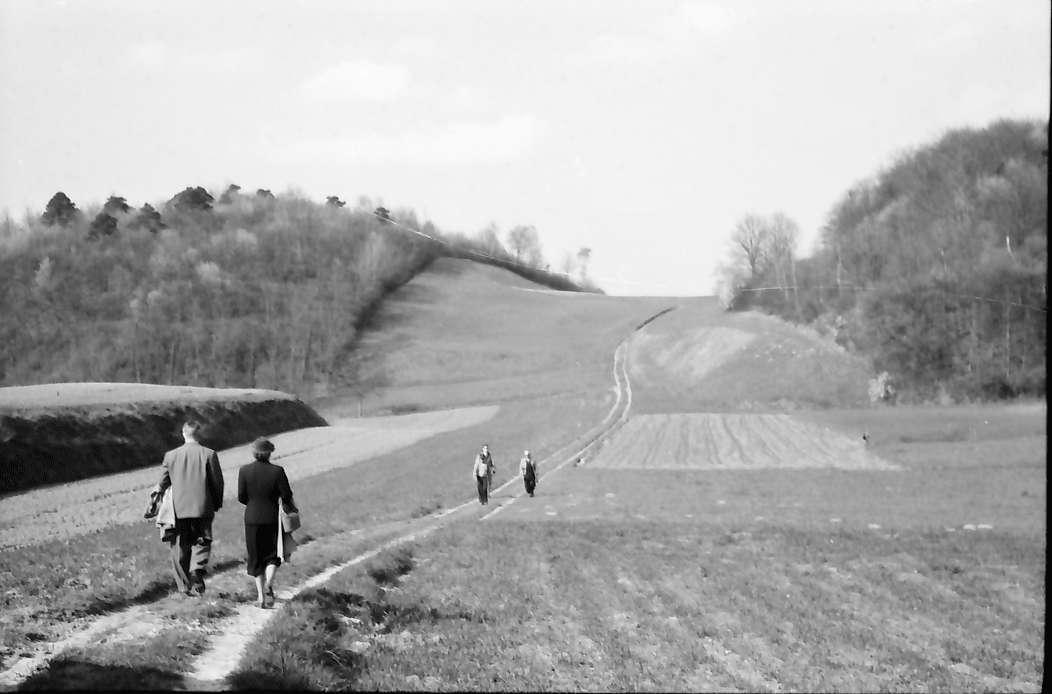 Bickensohl: Spaziergänger auf dem Höhenweg, Bild 1