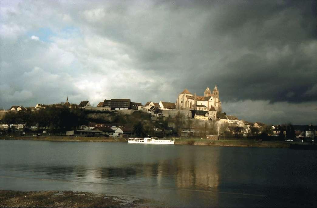 Neuf-Brisach: Münsterberg über den Rhein, mit Hotel, Bild 1