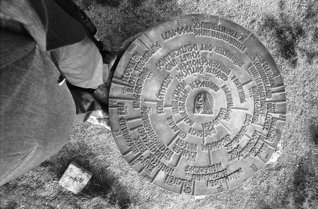 Ihringen: Runde Orientierungstafel von oben, Bild 1