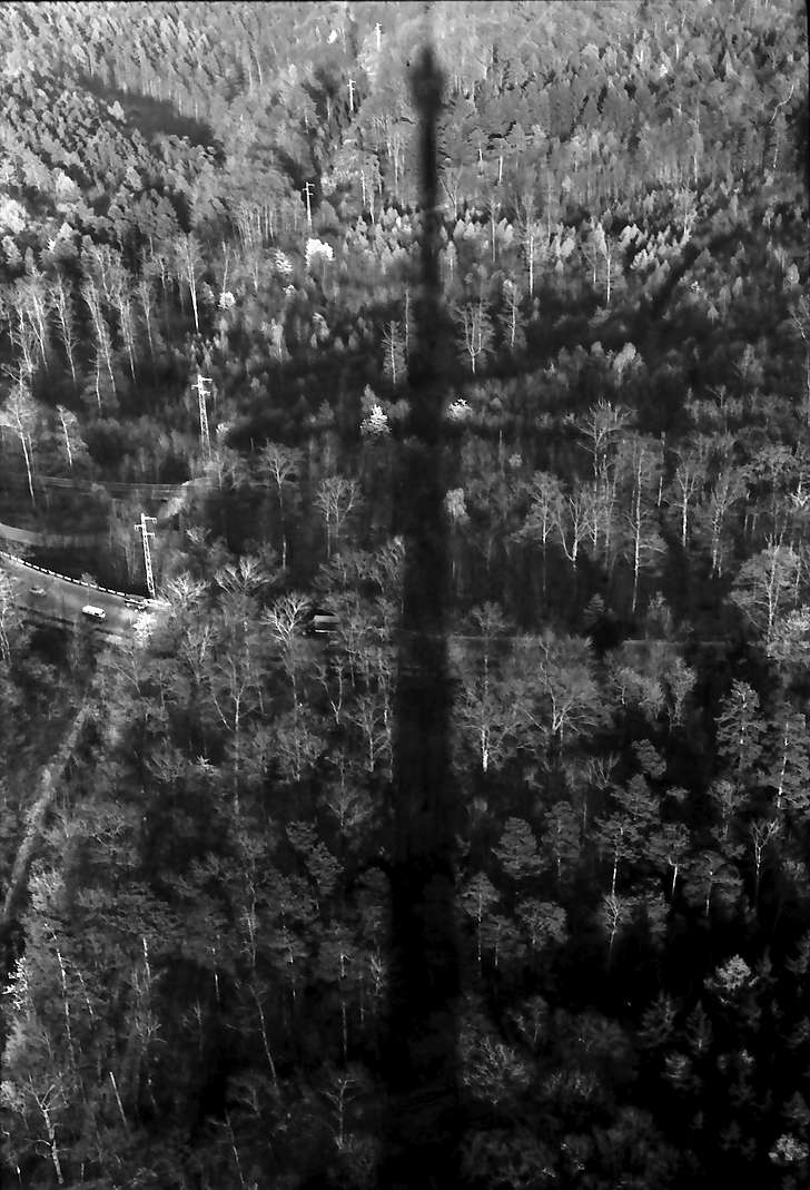 Stuttgart: Schatten des Fernsehturms über dem Wald, Bild 1